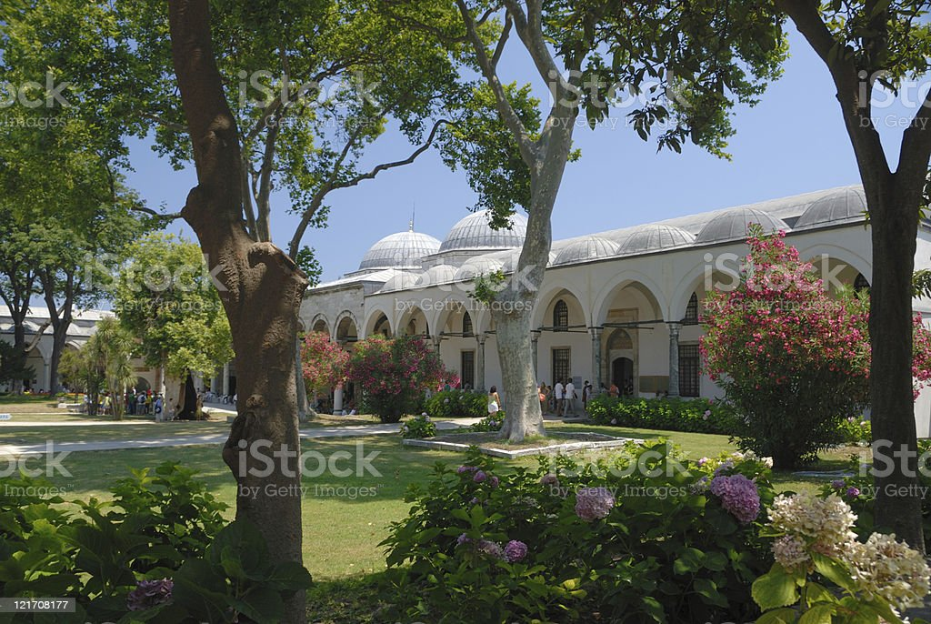 Topkapi Palace gardens royalty-free stock photo