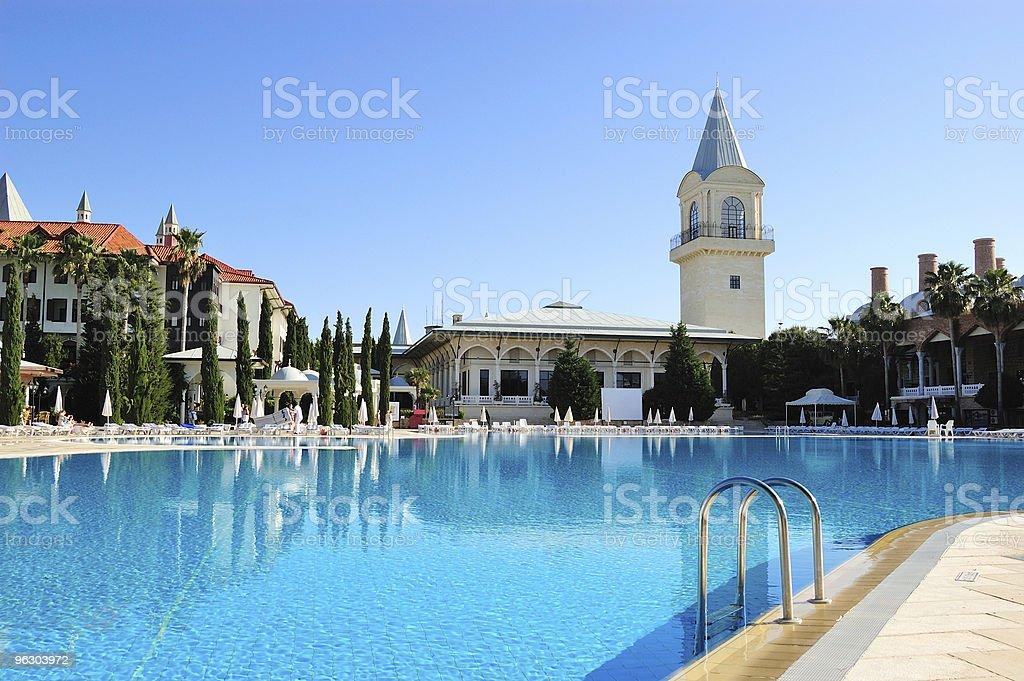 Topkapi Palace hotel at resort in Antalya, Turkey royalty-free stock photo