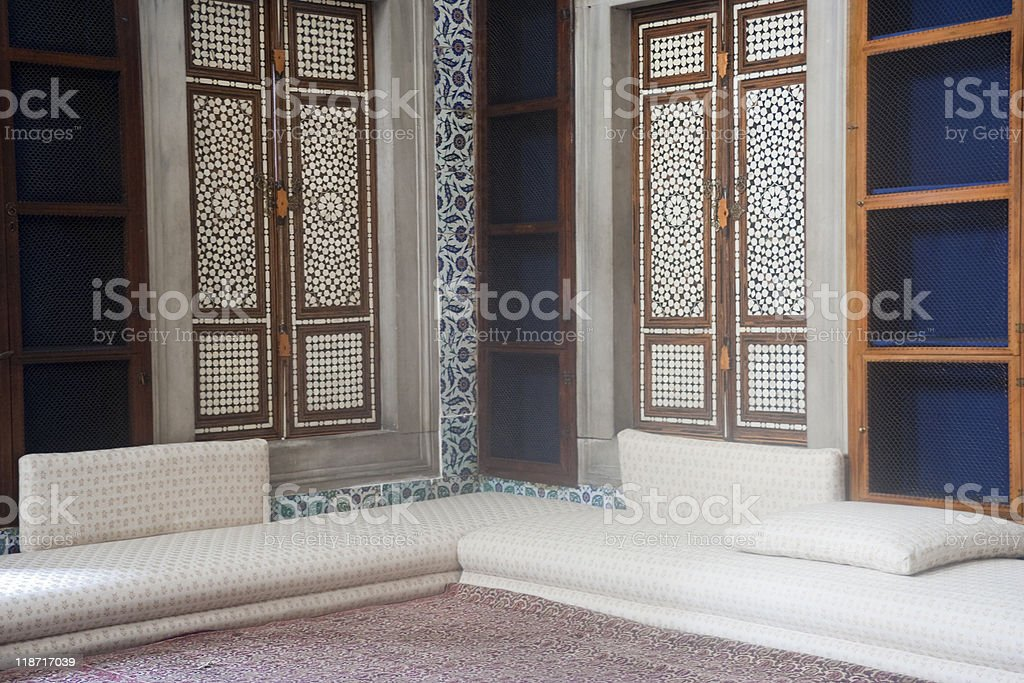 Topkapi Palace Interior in Istanbul royalty-free stock photo