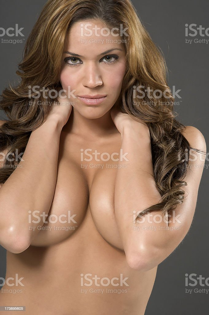 Topless Girl royalty-free stock photo