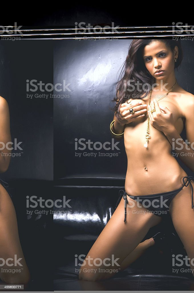 topless girl! royalty-free stock photo