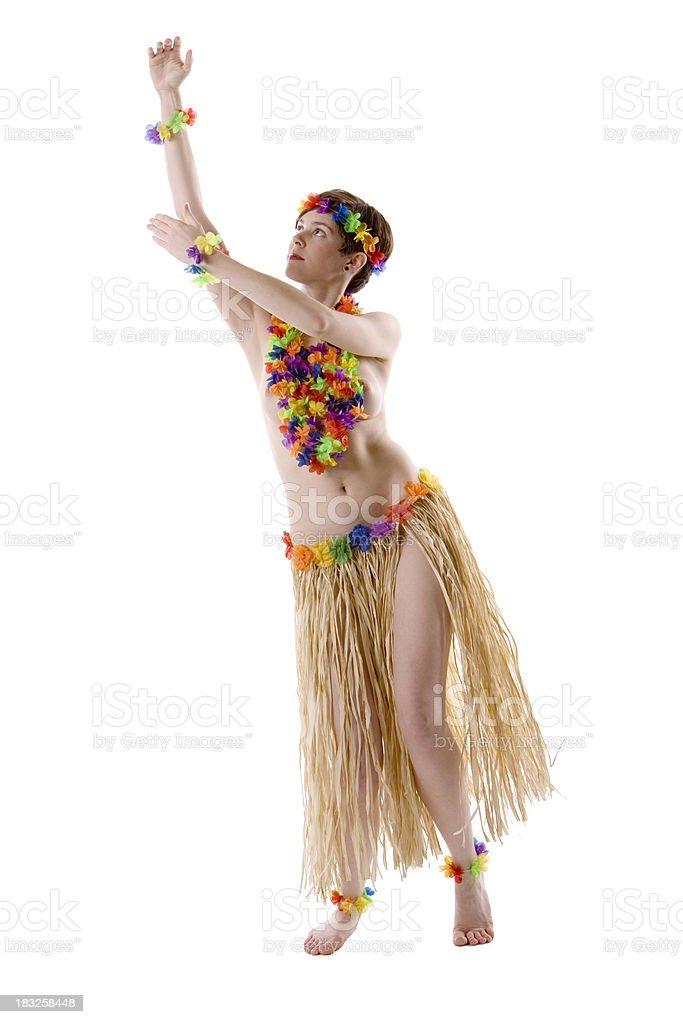 Topless Hula Girl 2 royalty-free stock photo