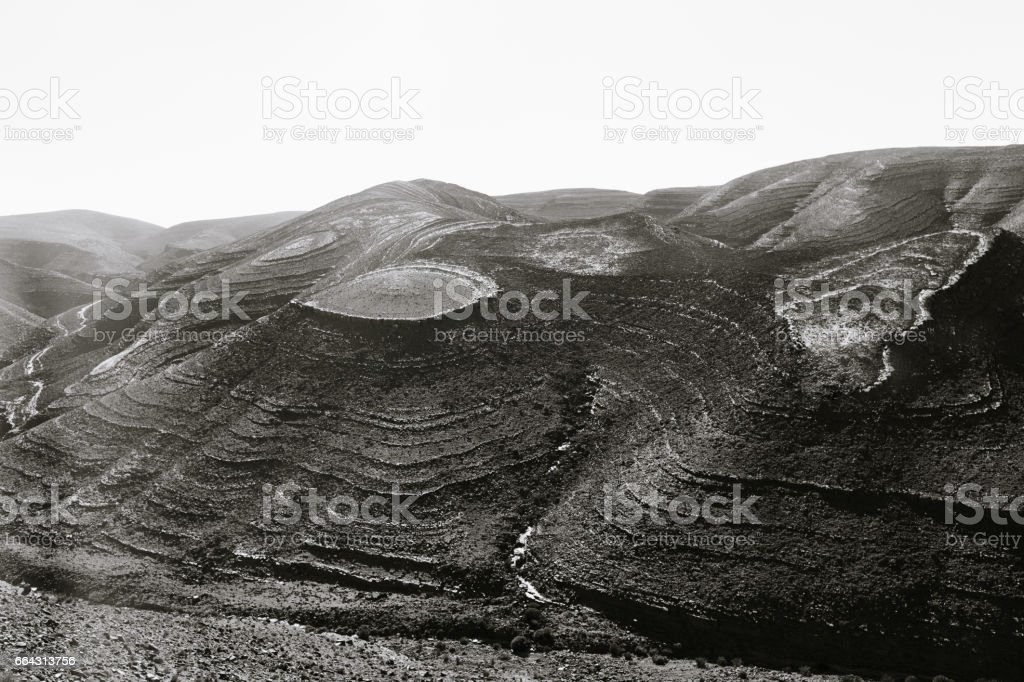 Topographic view stock photo