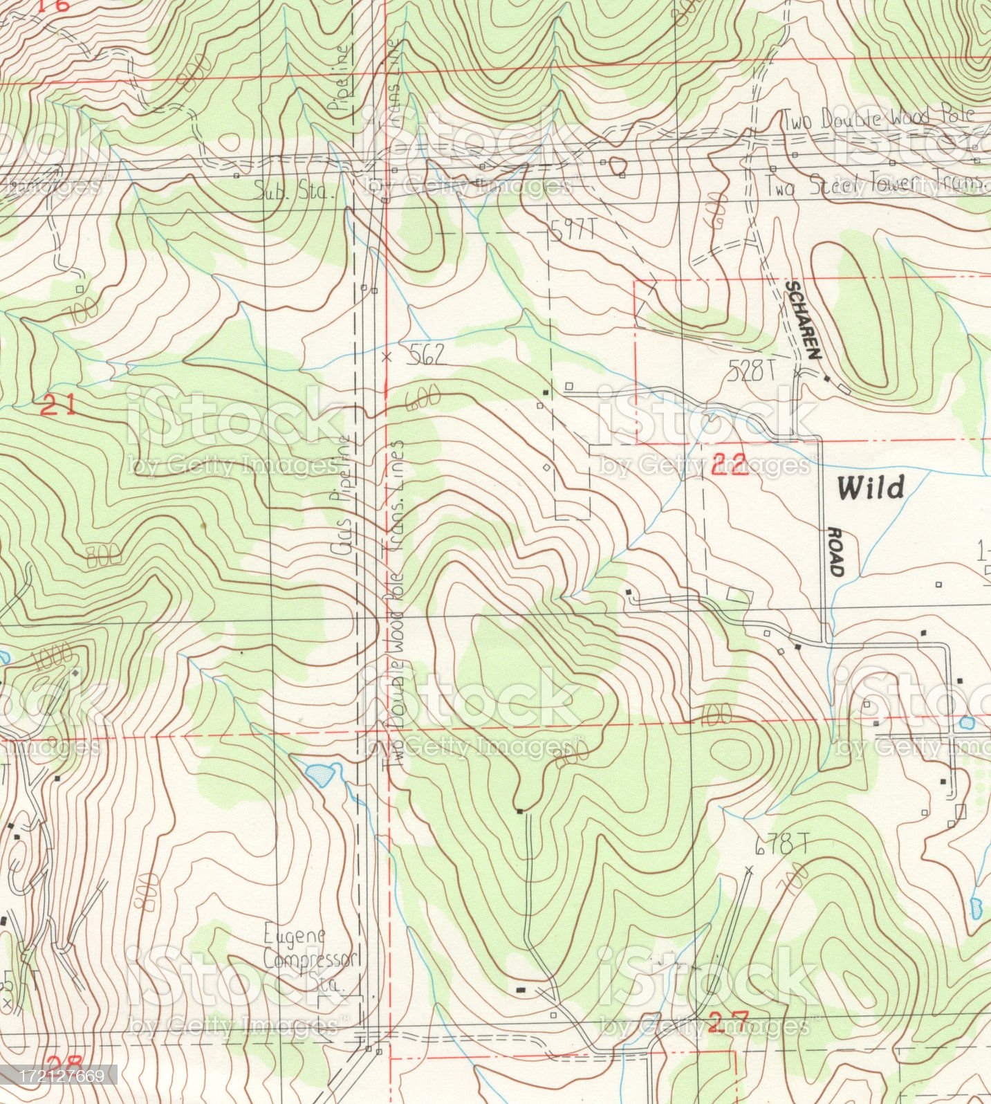 Topographical Map Detail royalty-free stock photo