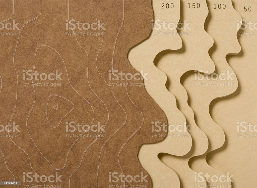 Topography Background royalty-free stock photo