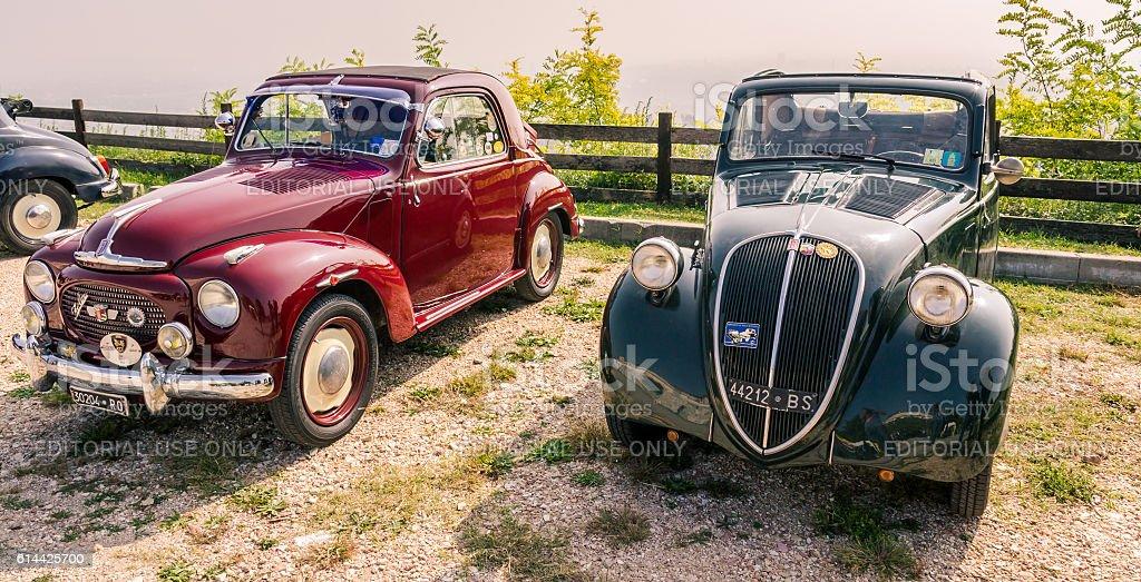 Topolino Autoclub Italia organizes a gathering on Lake Garda. stock photo