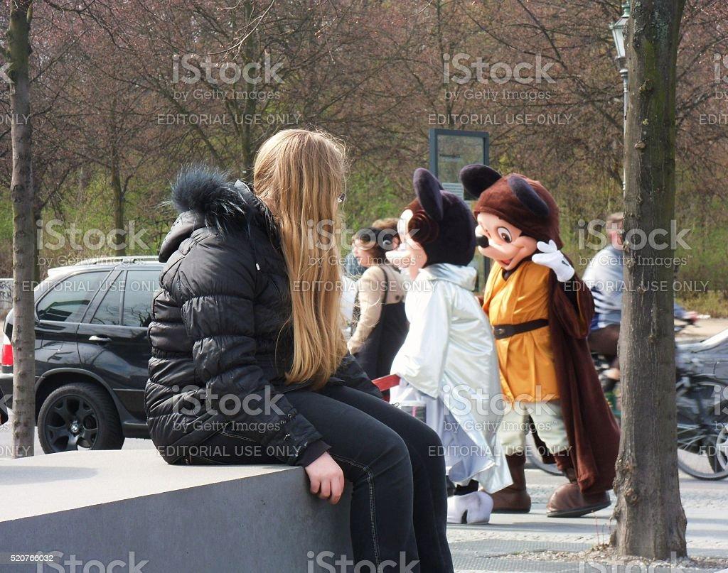 Topolino e Minnie a Berlino stock photo