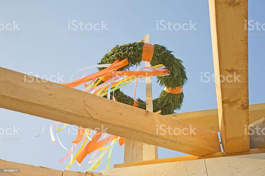 topping-out ceremony royalty-free stock photo