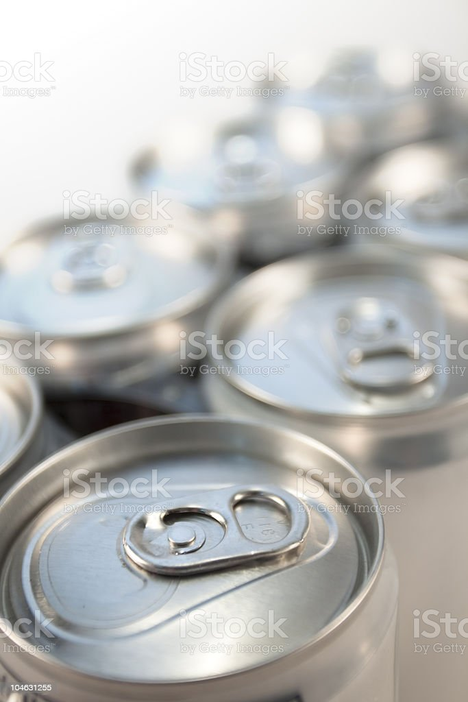 Tops Of Soda Cans royalty-free stock photo