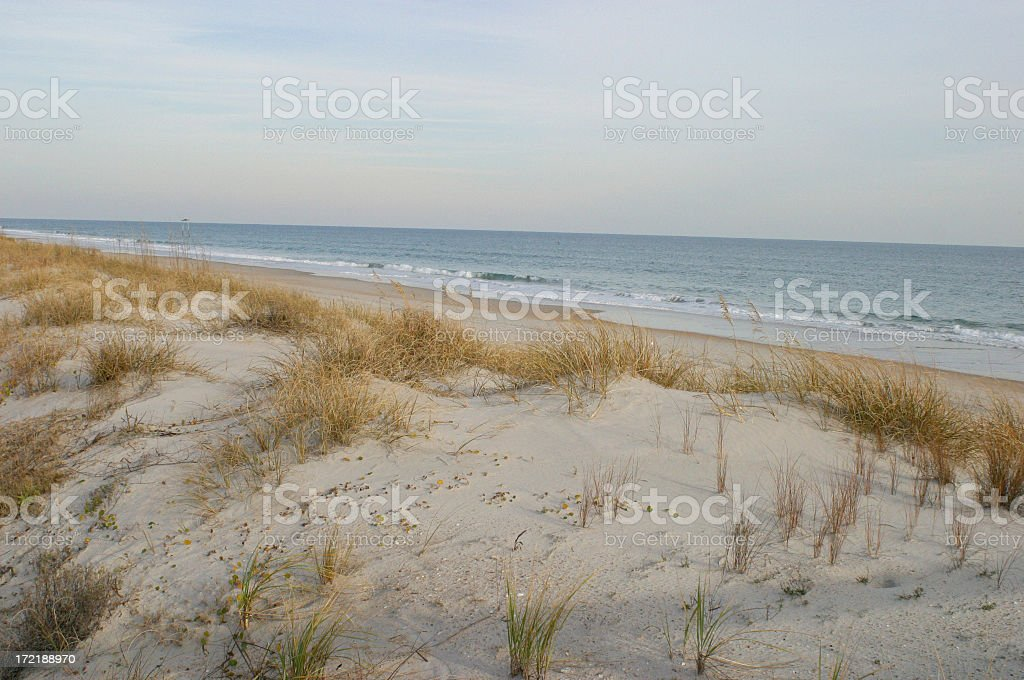 Topsail Island Sand Dunes stock photo