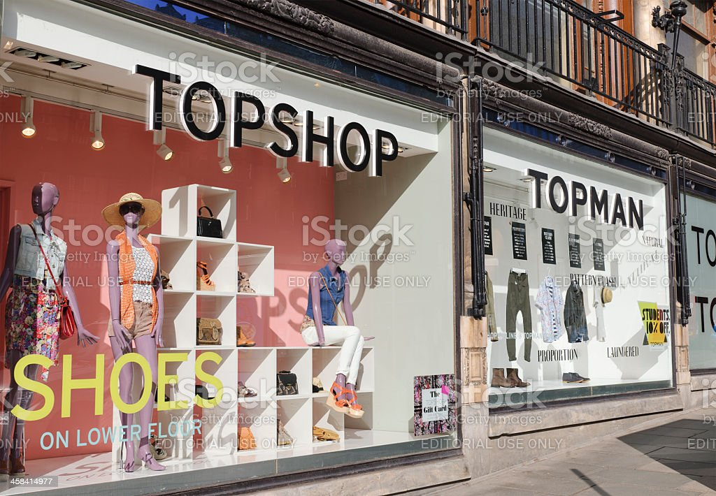 Topshop and Topman Window Displays royalty-free stock photo