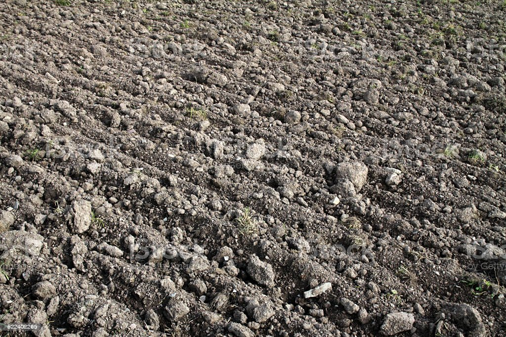 Topsoil surface layer stock photo
