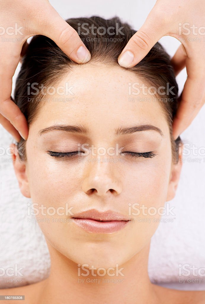 Top-to-toe relaxation royalty-free stock photo