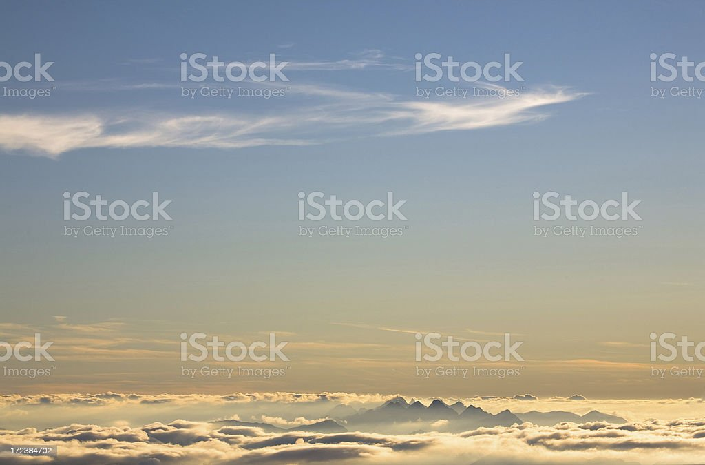 topview from mt. zugspitz royalty-free stock photo