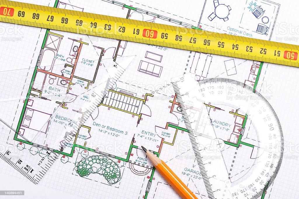Topview of floor plan stock photo