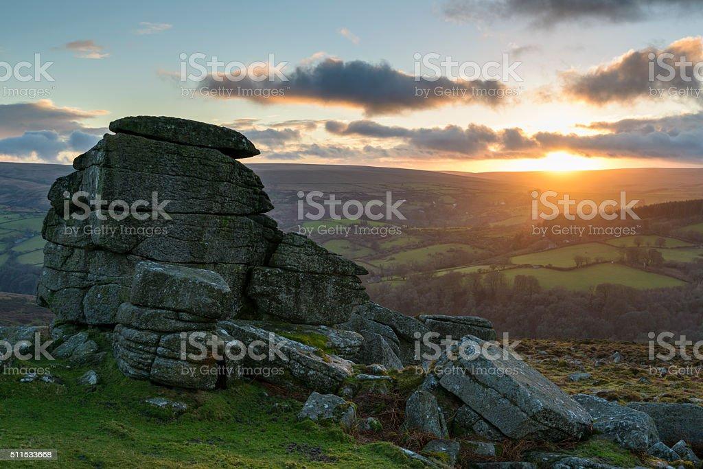 Tor Sunset stock photo