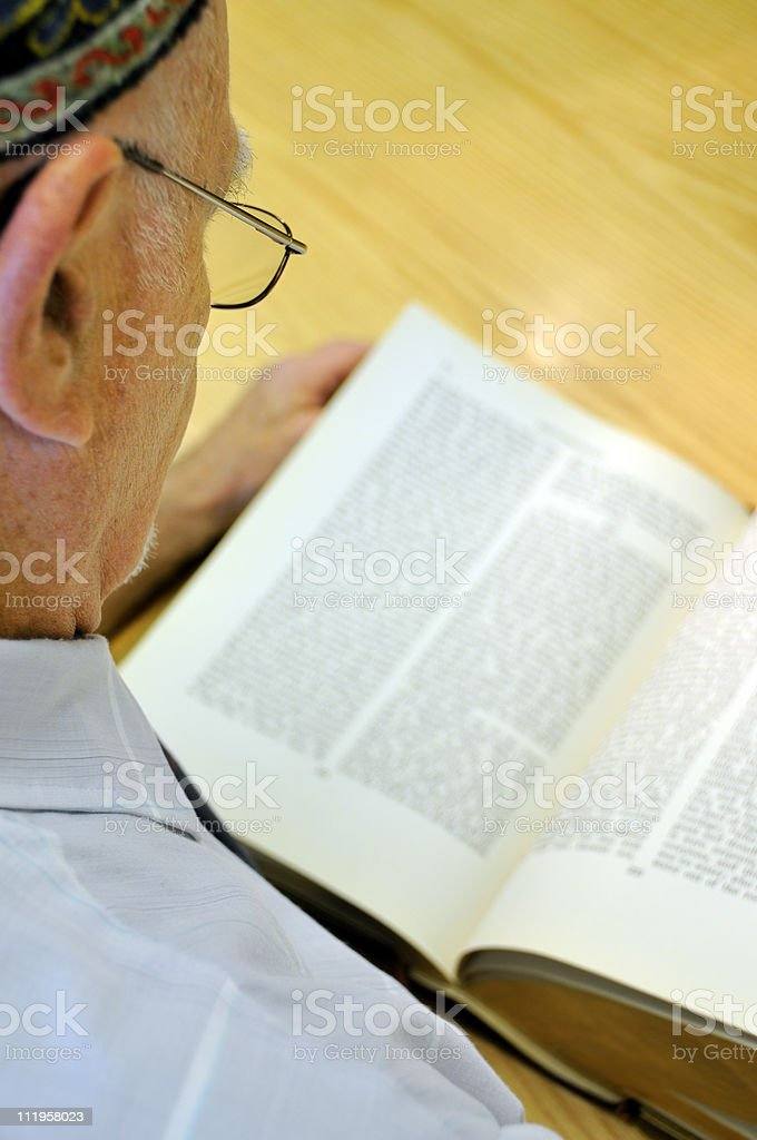 Torah Reader (Selective Focus) stock photo