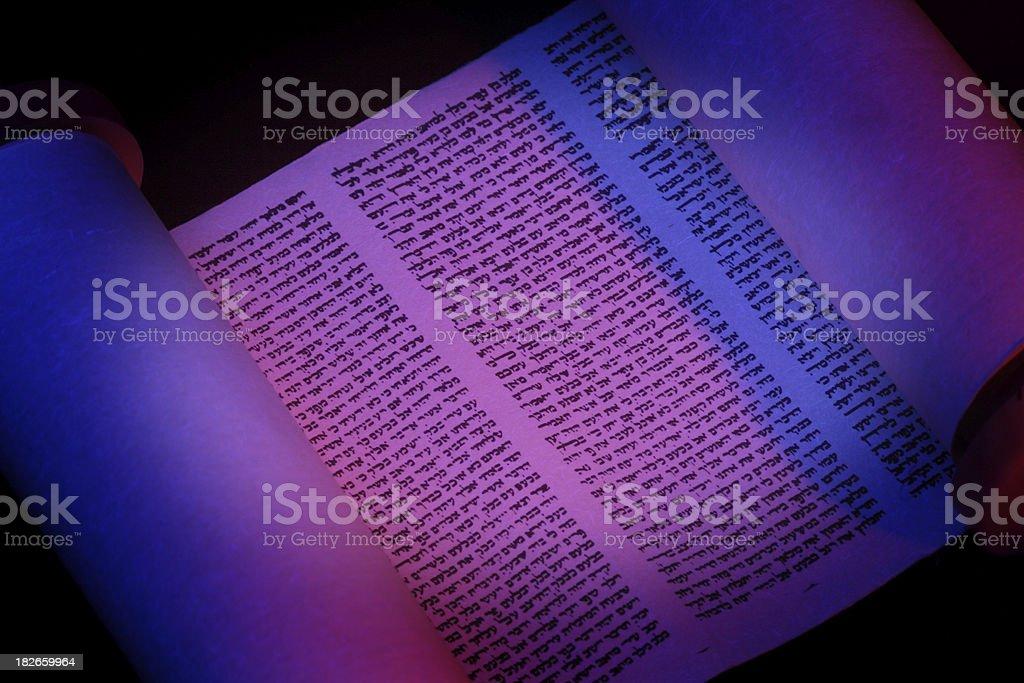 Torah Scroll Closeup royalty-free stock photo