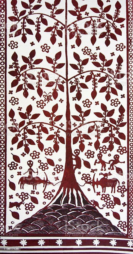Torajan textile royalty-free stock photo