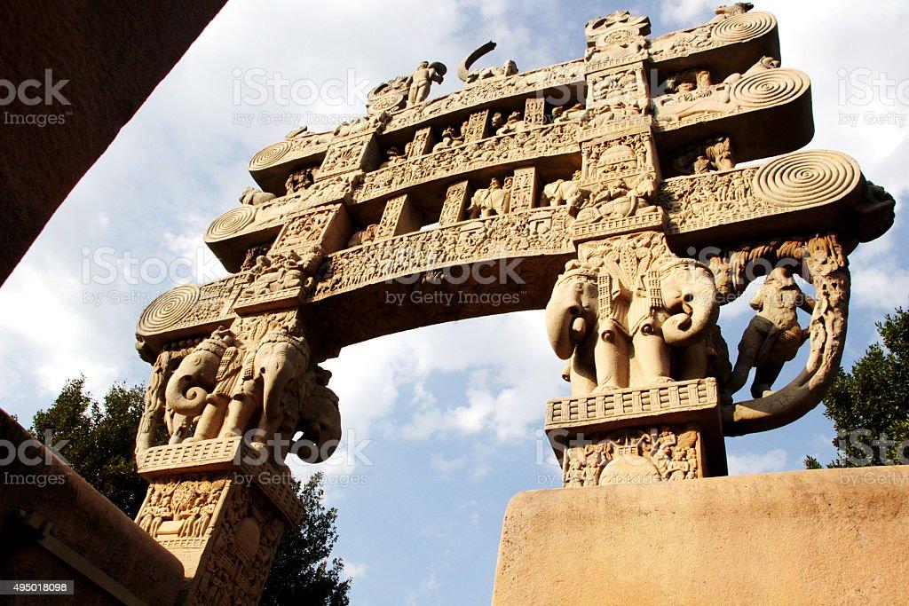 'Torana' Gateway at Sanchi stock photo