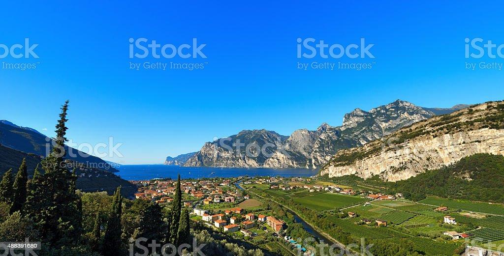 Torbole and Garda Lake - Trentino Italy stock photo