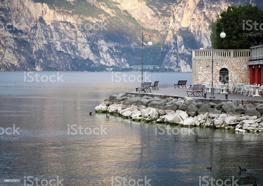 Torbole at Lake Garda,Italy stock photo