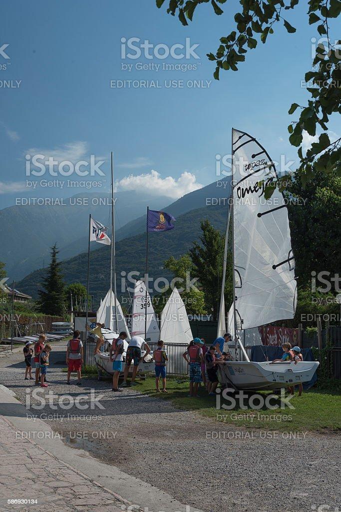 Torbole, Italy, 2015 August 3. stock photo
