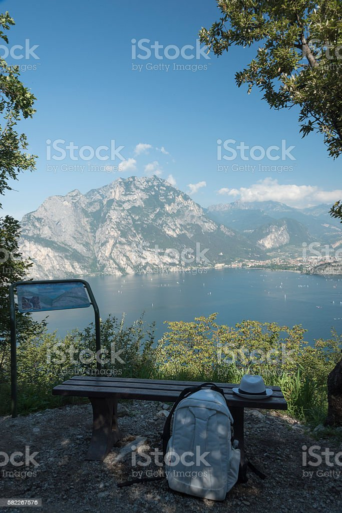 'Torbole', Italy, Lake Garda, Adventure Park. stock photo