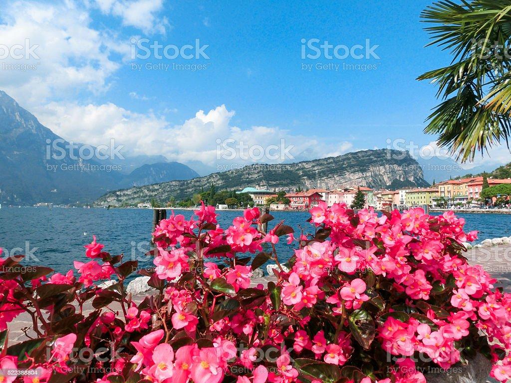 Torbole on Lake Garda in Italy stock photo