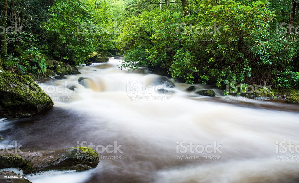 Torc river rapids in County Kerry stock photo