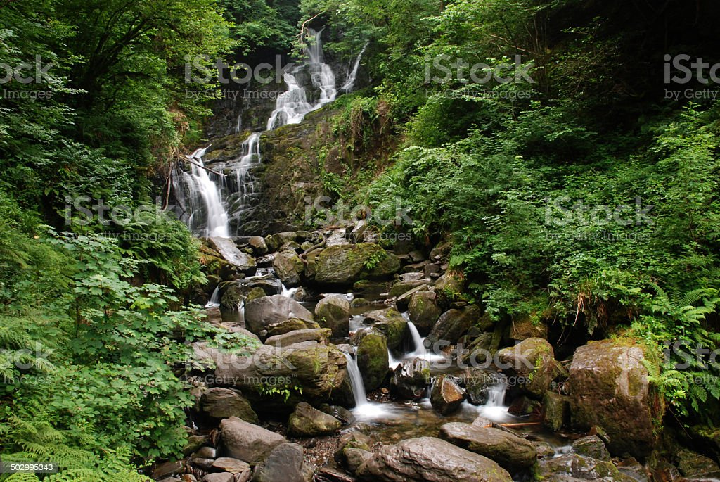 Torc Waterfall, Ireland stock photo
