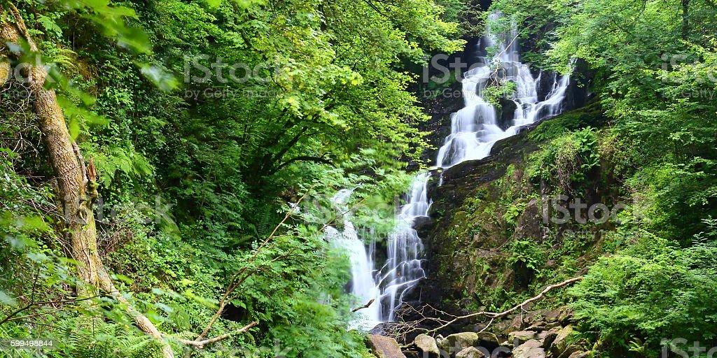 Torc Waterfall, Killarney National Park Ireland stock photo