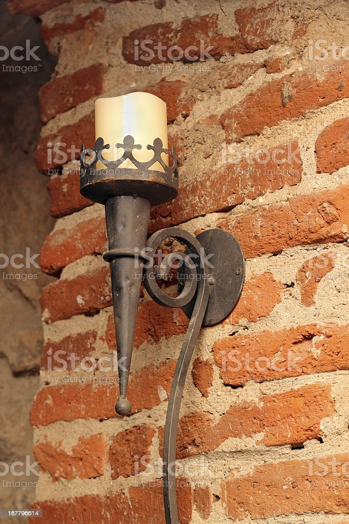 torch on a wall royalty-free stock photo