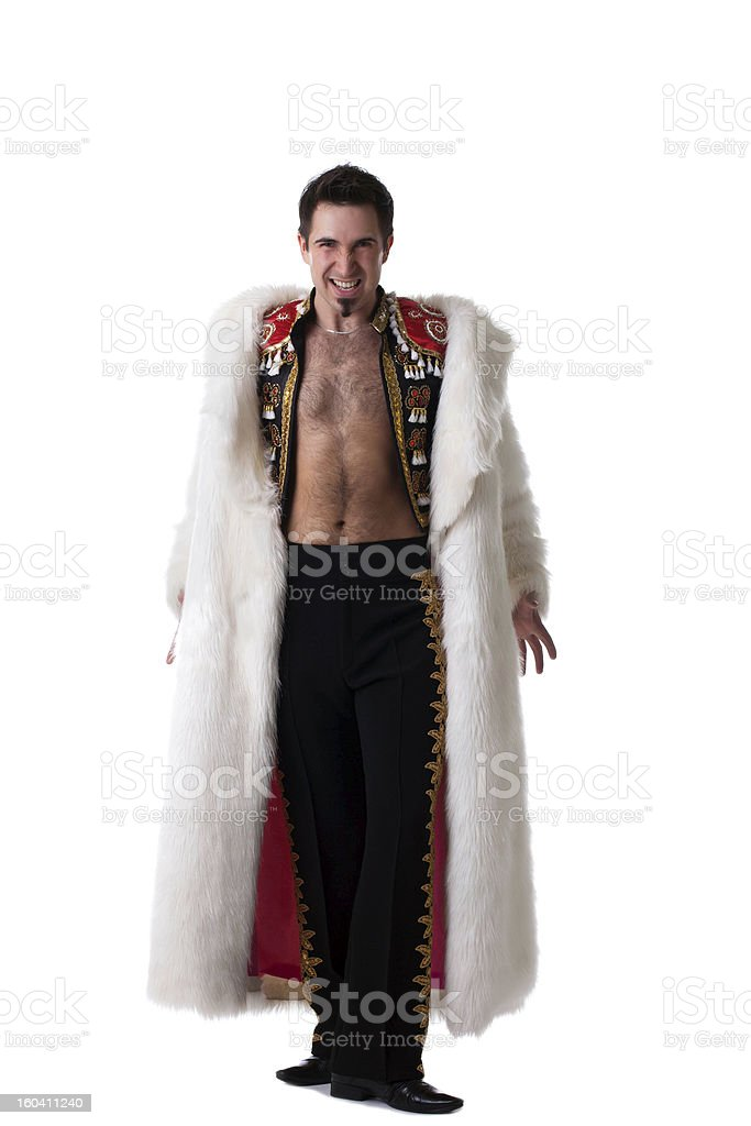 Toreador in white fur coat royalty-free stock photo