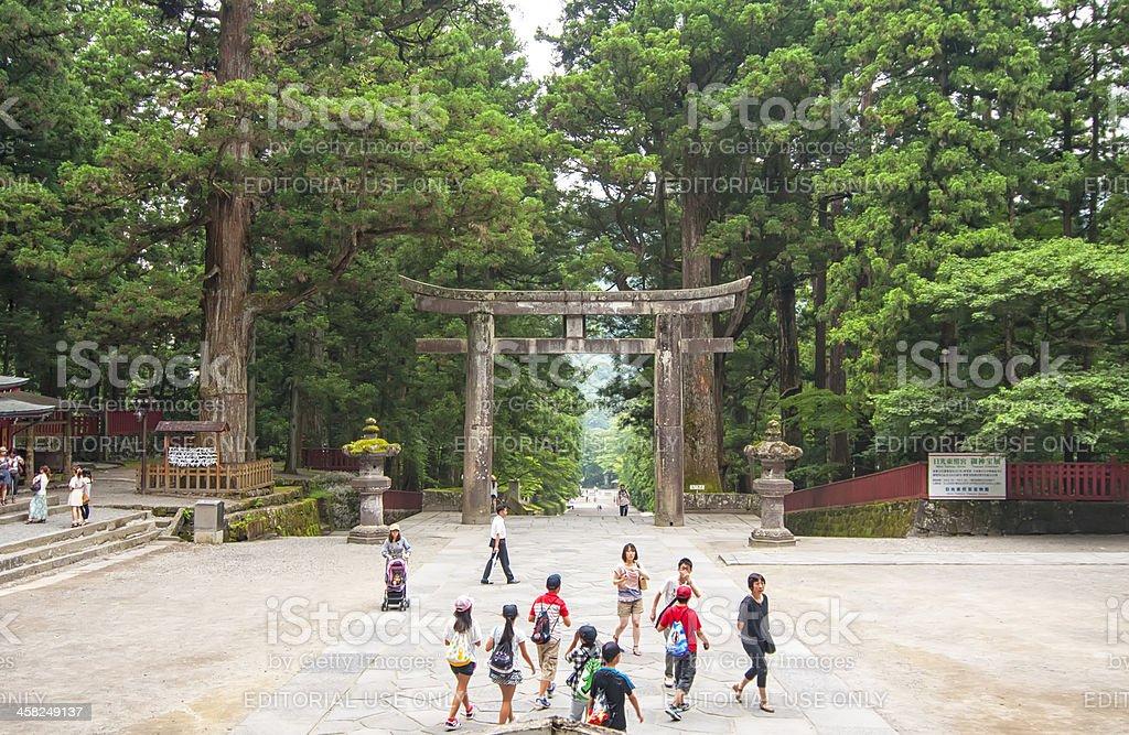 Tori in Toshogu temple at Nikko, Japan royalty-free stock photo
