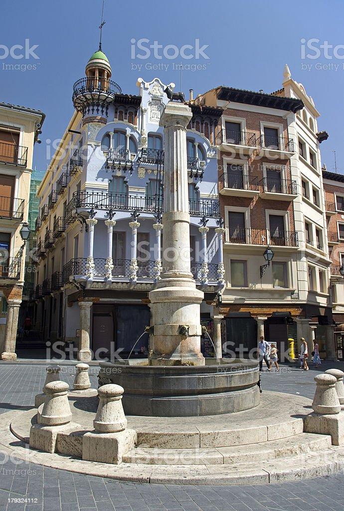 Torico Square.Teruel.Spain stock photo