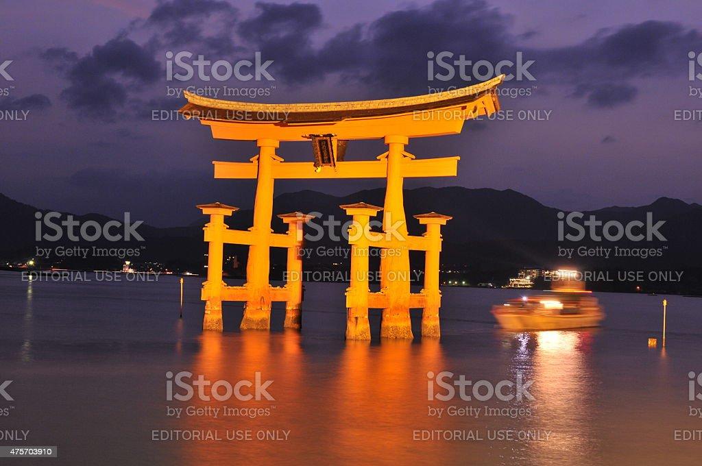 Torii Gate of Itsukushima Shrine, Hiroshima stock photo