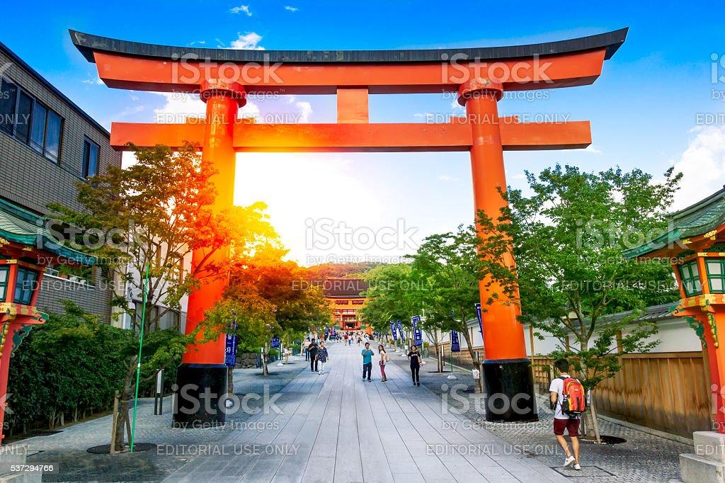 Torii portões no Santuário Fushimi Inari Taisha foto royalty-free
