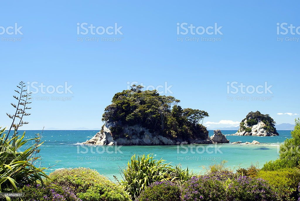 Torlesse Rock, Kaiteriteri, Tasman Region, New Zealand stock photo