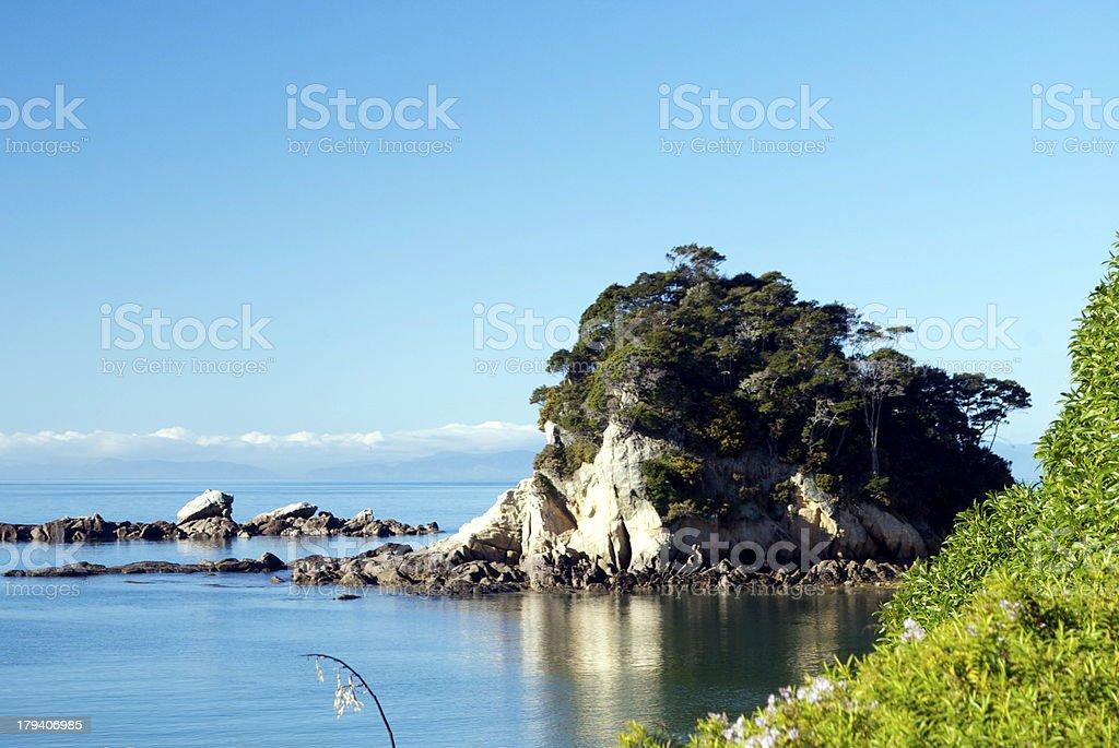 Torlesse Rock, Kaiteriteri, Tasman Region, New Zealand royalty-free stock photo