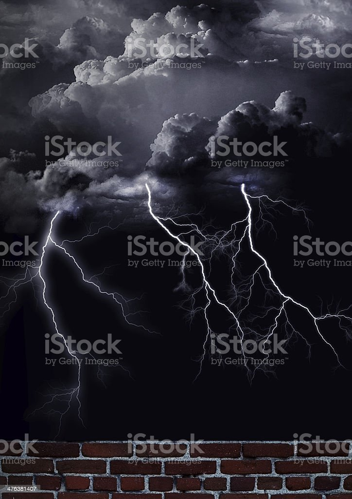 tormenta eléctrica royalty-free stock photo