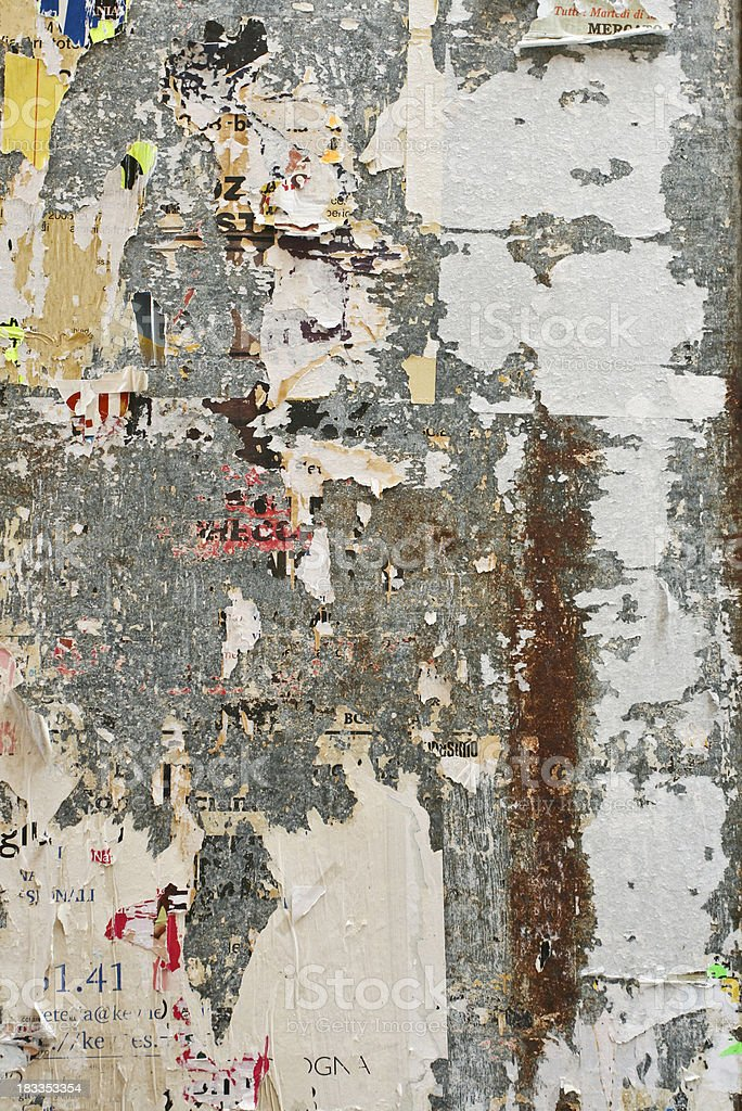 Torn advertisement background royalty-free stock photo