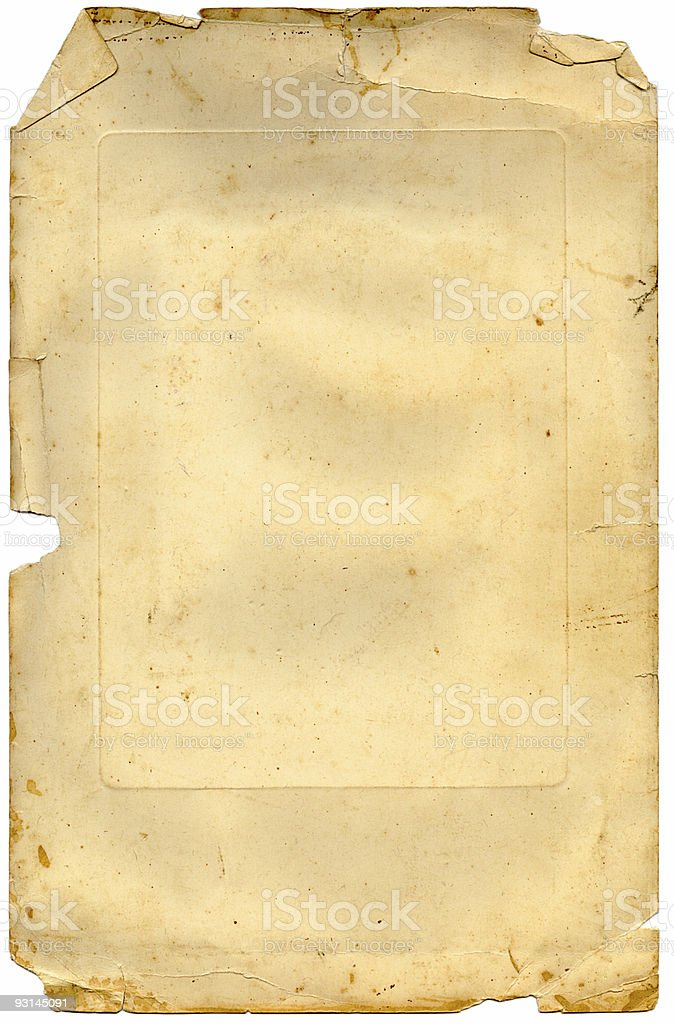 torn and crinkled paper royalty-free stock photo