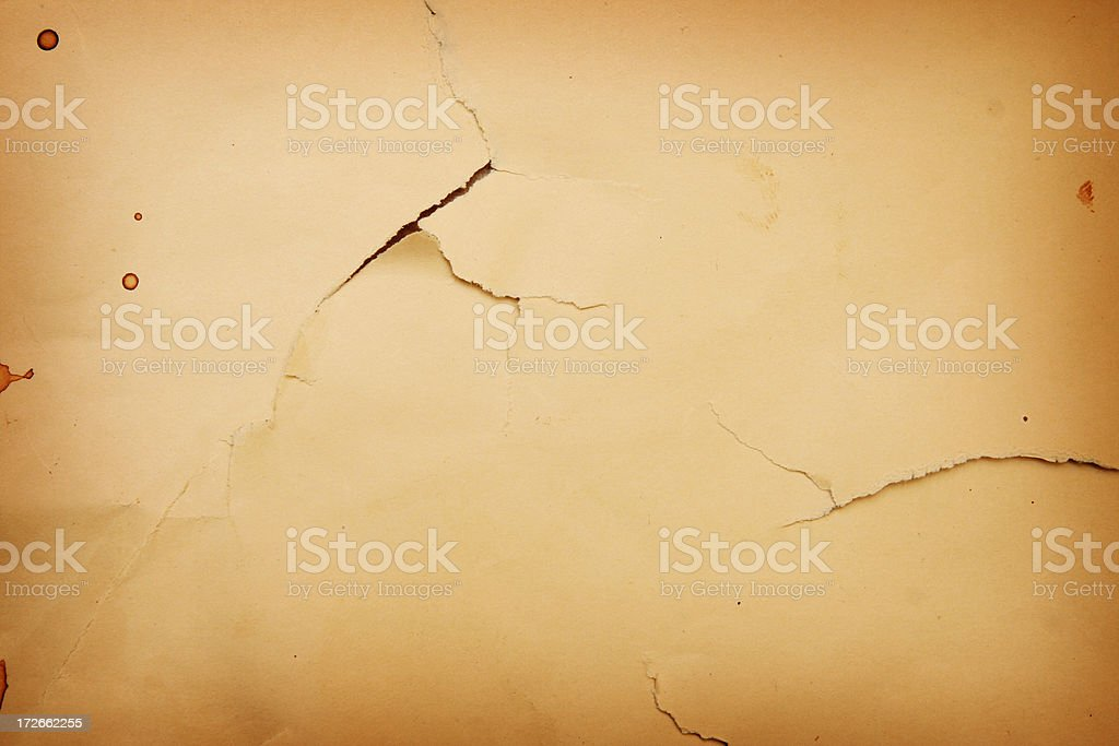 Torn and Ripped Brown Grunge Paper royalty-free stock photo