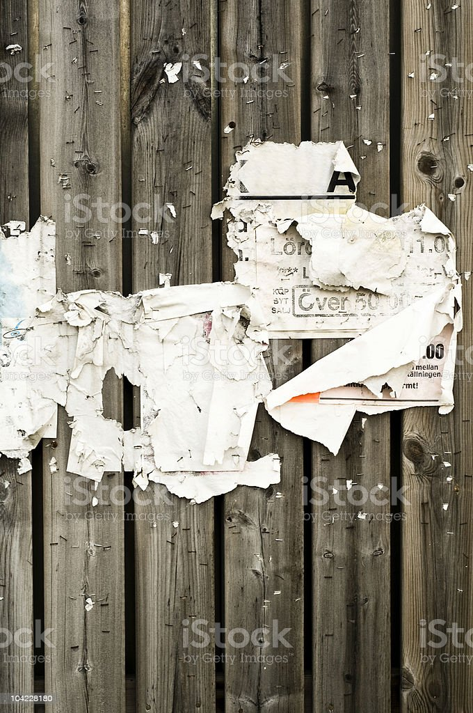 Torn and stapled paper. royalty-free stock photo