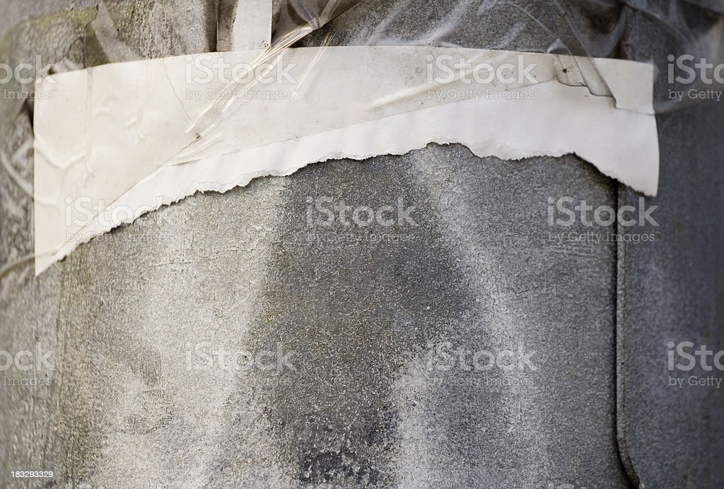 Torn announcement royalty-free stock photo