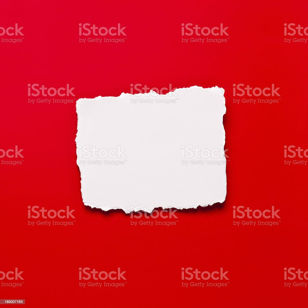 Torn blank piece of paper royalty-free stock photo