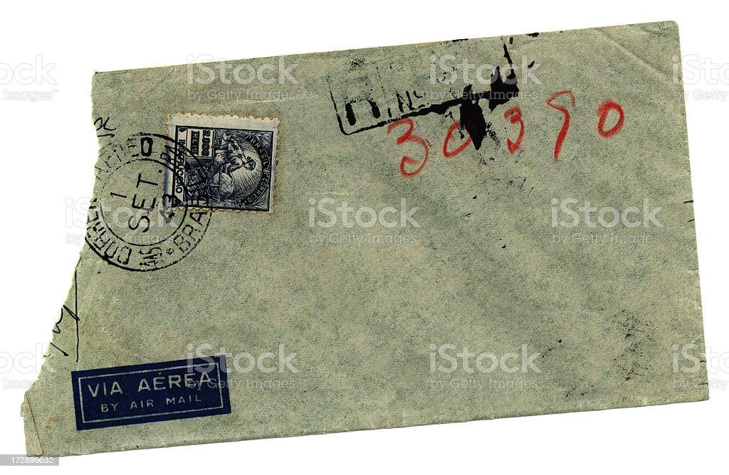 Torn Brazilian envelope stock photo
