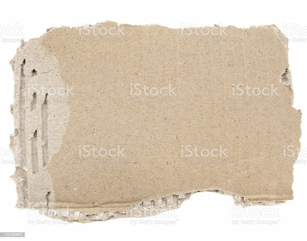 Torn Carboard royalty-free stock photo