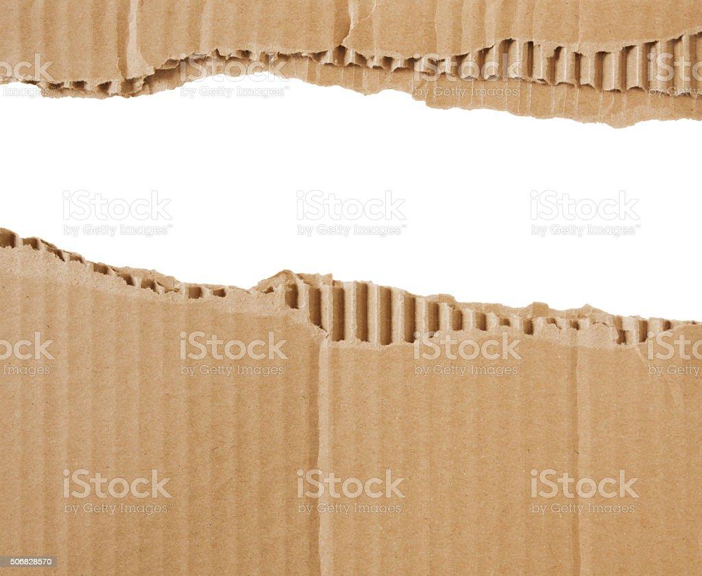 Torn Cardboard Border (with path) stock photo